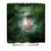 The Cosmic Hearth Shower Curtain