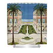 The Cote Dazur, 1981 Shower Curtain