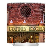 The Cotton Exchange Shower Curtain by Cynthia Guinn