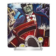 The Count Cool Rider Shower Curtain