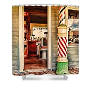 The Country Barber Shower Curtain