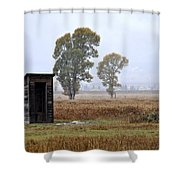 The Country Outhouse Shower Curtain