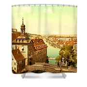 The Court House-bamberg-bavaria-germany - Between 1890 And 1900 Shower Curtain