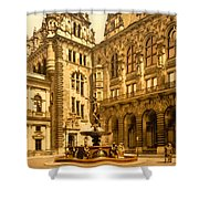 The Court House-hamburg-germany - Between 1890 And 1900 Shower Curtain