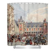 The Court In Chateaus Of The Loire Shower Curtain