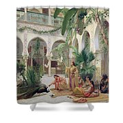 The Court Of The Harem Shower Curtain by Albert Girard
