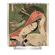 The Courtesan Tsukasa From The Ogiya House Tanabata. Star Festival  Shower Curtain