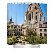 The Courtyard - Beautiful Pasadena City Hall. Shower Curtain