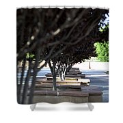 The Courtyard Shower Curtain