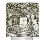 The Covered Bridge Dm  1 Shower Curtain