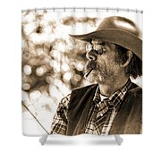 The Cowboy Angler Shower Curtain