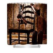 The Cowboy Chair Shower Curtain