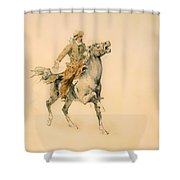 The Cowboy Shower Curtain