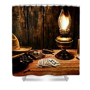The Cowboy Nightstand Shower Curtain