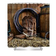 The Cowboy Shower Curtain by Paul Ward