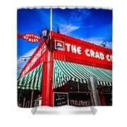 The Crab Cooker Newport Beach Photo Shower Curtain