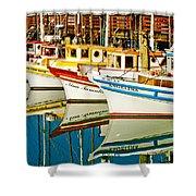 The Crab Fleet Shower Curtain by Bill Gallagher