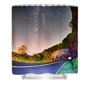 The Craggy Pinnacle Tunnel On The Blue Ridge Parkway  Shower Curtain