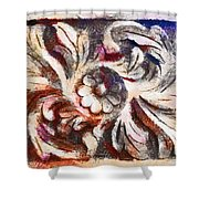 The Crayoned Leaves  Shower Curtain