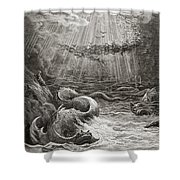 The Creation Of Fish And Birds Shower Curtain