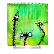The Creatures From The Drain Painting 4 Shower Curtain
