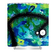 The Creatures From The Drain Painting 42 Shower Curtain