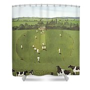 The Cricket Match Shower Curtain