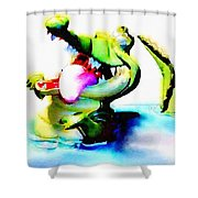 The Croco Shower Curtain