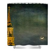 The Cross And The Crescent Shower Curtain