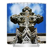 The Cross And The Tower Shower Curtain