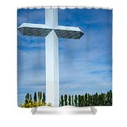 The Cross At Effingham Illinois Shower Curtain