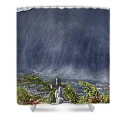 The Cross Shower Curtain by Douglas Barnard