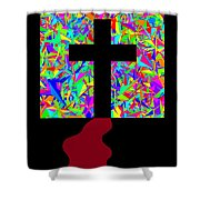 The Cross In Fauvism Shower Curtain