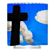 The Cross Of Christ Shower Curtain