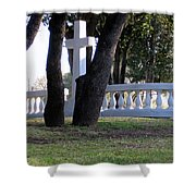 The Cross Through The Trees Shower Curtain