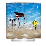 The Crossing 2 Shower Curtain by Mike McGlothlen