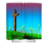 The Crossn The Field Shower Curtain