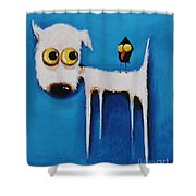 The Crow And The Dog Shower Curtain