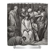 The Crown Of Thorns Shower Curtain by Gustave Dore