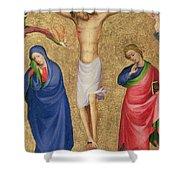 The Crucifixion Shower Curtain by Dutch School