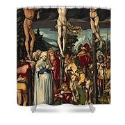 The Crucifixion Of Christ Shower Curtain