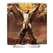 The Crucifixion Of St Andrew Shower Curtain