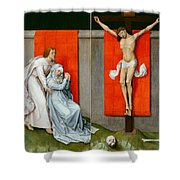The Crucifixion With The Virgin And Saint John The Evangelist Mourning Shower Curtain