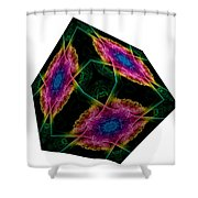 The Cube 9 Shower Curtain