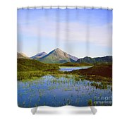 The Cuillin Hills Of Skye In The Western Isles Shower Curtain