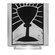 The Cup Shower Curtain by Barbara St Jean