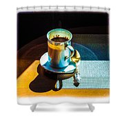 The Cup Of Black Coffee 1 Shower Curtain
