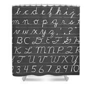 The Cursive Alphabet Shower Curtain