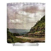 The Curve Blue Ridge Parkway Shower Curtain
