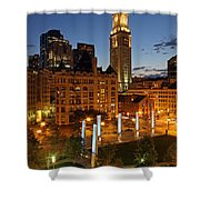 The Custom House of Boston Shower Curtain by Juergen Roth